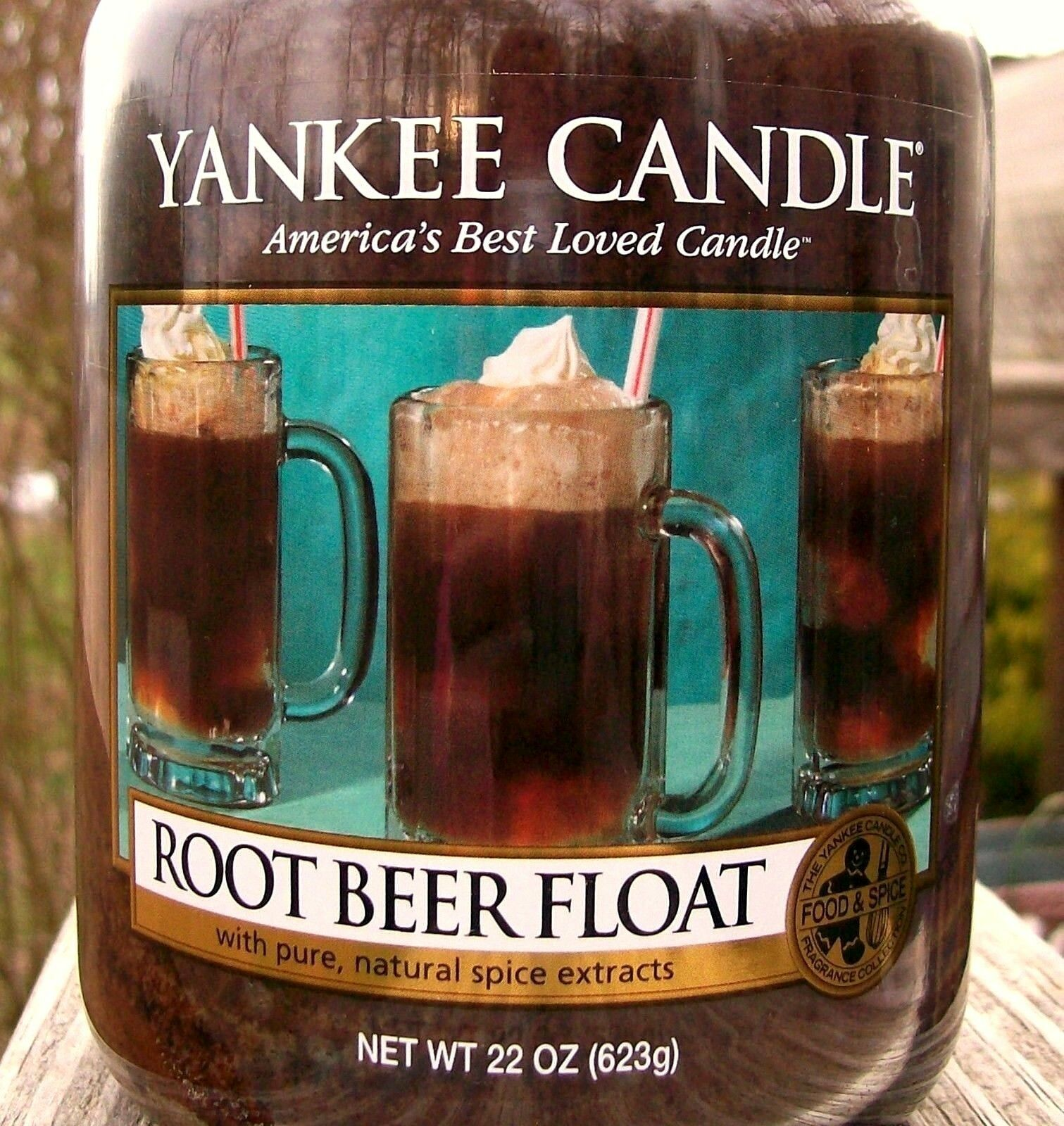 Yankee Candle Retired  ROOT BEER FLOAT FoodLarge 22 oz  WHITE LABELRARENEW