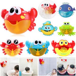 Musik-Tragbare-Kinder-Frosch-krabbe-Seifenblasenmaschine-Bubble-Machine-Maker-DE
