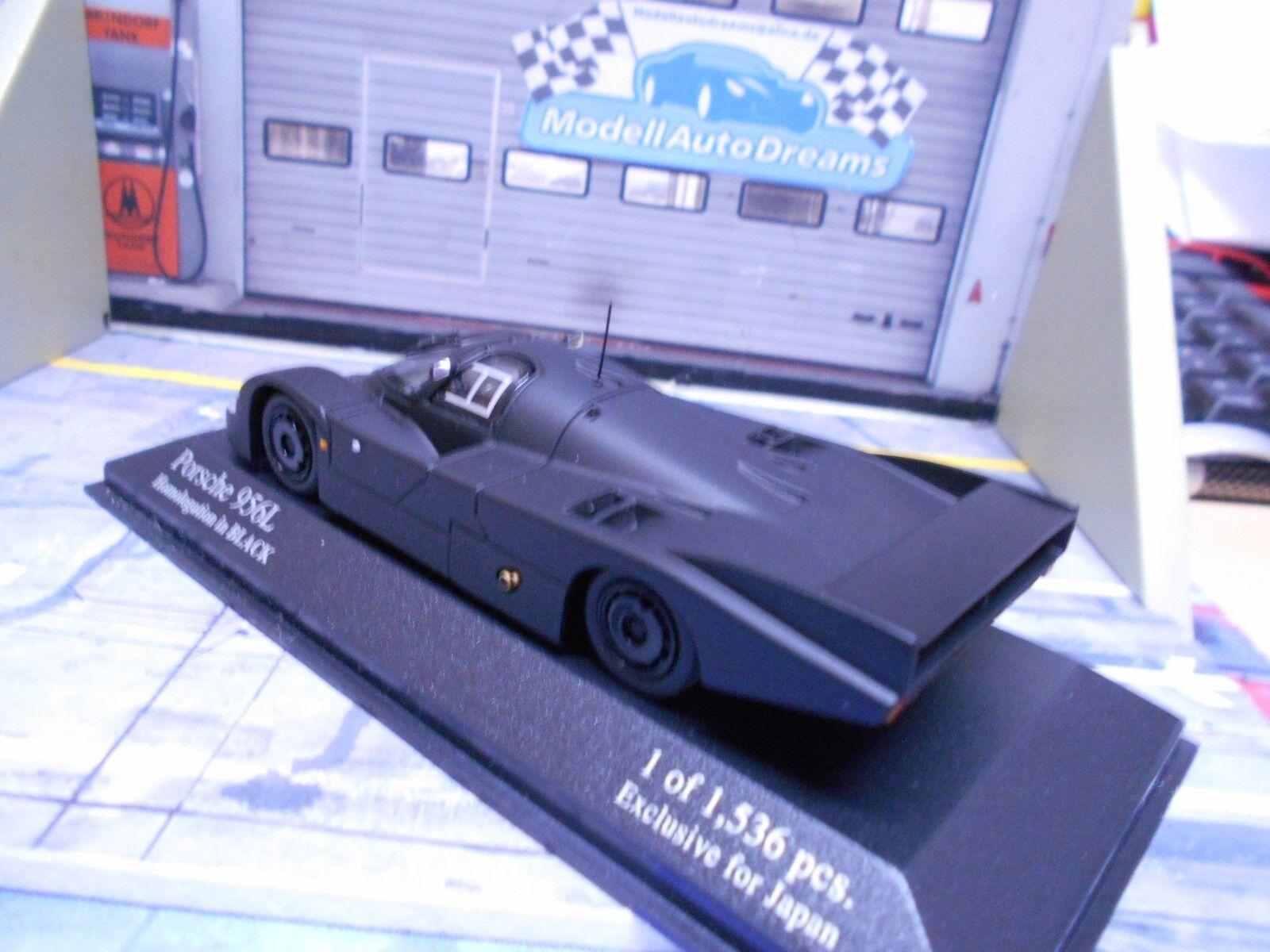 Porsche 956 L langheck homologation homologation homologation dans Black Matt Noir KYOSHO Minichamps 1:43 | Pour Gagner L'éloge Chaleureux Auprès De Ses Clients  ad2543