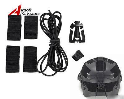 Airsoft Tactical Outdoor Military Fast Helmet DIY Deck Set Black