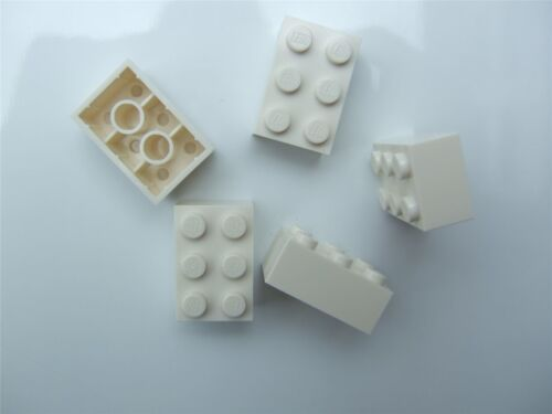 pièces et morceaux - 300201 5 x LEGO white Brick taille 2x3