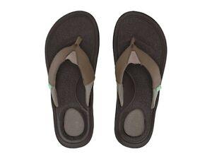Men-039-s-Shoes-Sanuk-BEER-COZY-3-Casual-Flip-Flop-Sandals-1099396-BROWN