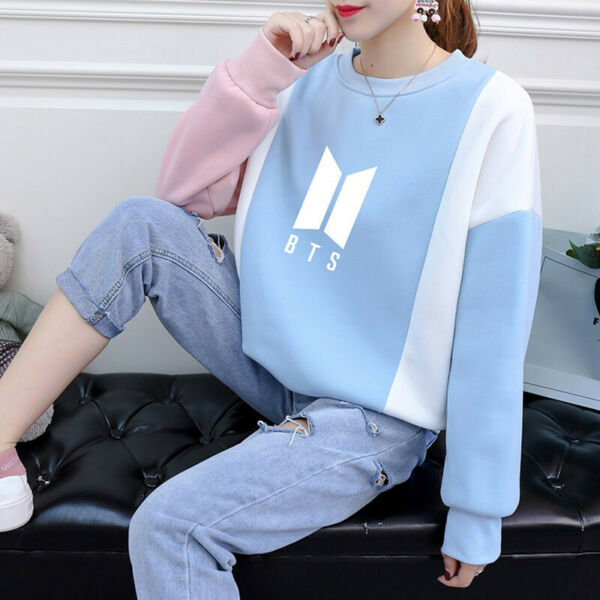BTS Casual Kapuzenpullover Sweatshirt Persona Kpop Zur Seite Fahren Jumper Tops