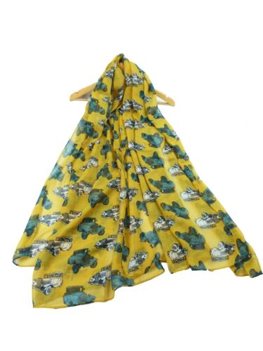 Mustard vintage car Scarf  Fashion Accessories  classic car scarves ladies Gift