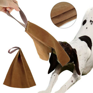 Bite-Rag-Dog-Training-with-Handle-Suede-Puppy-Young-Dog-Chew-Tug-for-SCHUTZHUND