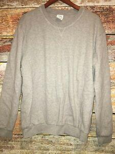 Details about ZARA Basic essential gray grey Sweatshirt Mens Womens Size XXL crewneck