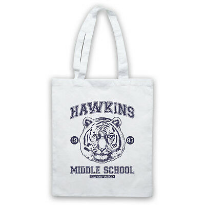 Analytisch Stranger Things Hawkins Middle School Unofficial Tiger Tote Bag Life Shopper