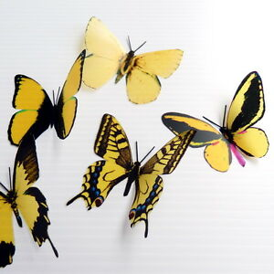 50-Pack-Butterflies-Yellow-5-to-6-cm-Cakes-Weddings-Crafts-Cards