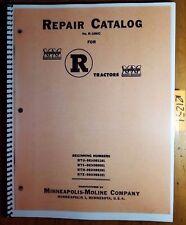 Minneapolis Moline R Rtu Rts Rtn Rte Tractor Repair Parts Catalog Manual R 1086c