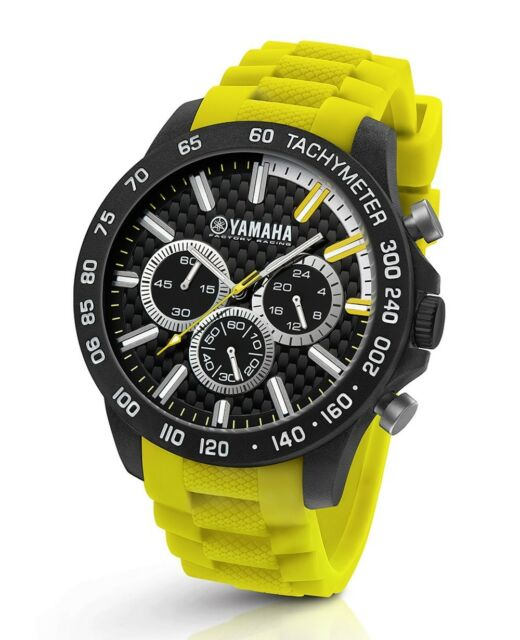 TW Steel Yamaha Factory Racing 45mm Yellow Strap Chronograph Watch Y120