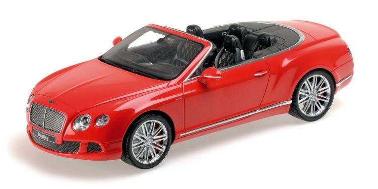 Minichamps  Bentley Continental GT Speed Convertible Rojo'13 Resina 107139330