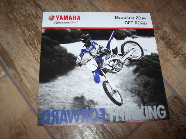 Betrouwbaar Prospectus / Brochure Yamaha Gamme / Full Line Off Road 2014 // Het Voeden Van Bloed En Het Aanpassen Van De Geest