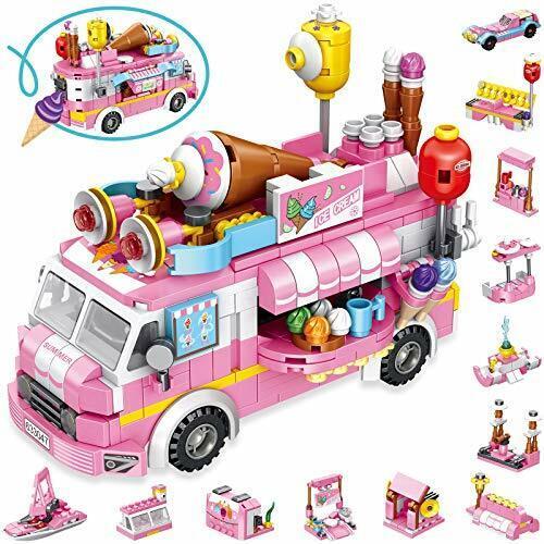 Lukat jouets de construction pour 5 6 7 8 9 10 ANS FILLES 568pcs ICE CREAM TRUCK