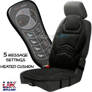 Coprisedile Riscaldato 12v.Dettagli Su Auto Sedile Anteriore 5 Funzione Riscaldato Retro Massage Cuscino Con 12v Sigari