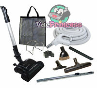 30' Or 35' Central Vacuum Kit W/hose, Power Head & Tools Beam Kenmore Nutone