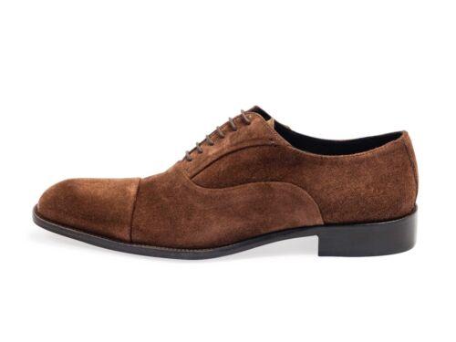 Homme en daim oxford-chaussures noir ou marron fabriqué en italie