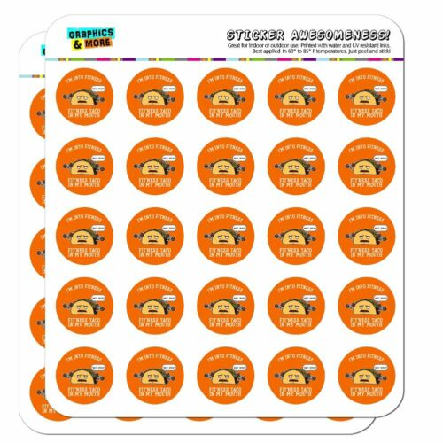 Fitness Taco In My Mouth Funny Planner Calendar Scrapbooking Crafting Stickers