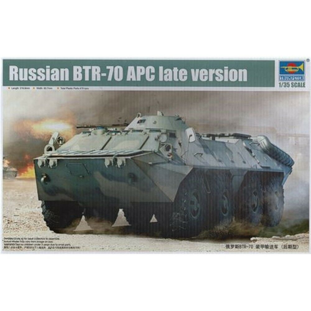 1 35 Trumpeter Russian Btr70 Apc Late Version - Model Kit 135 Scale