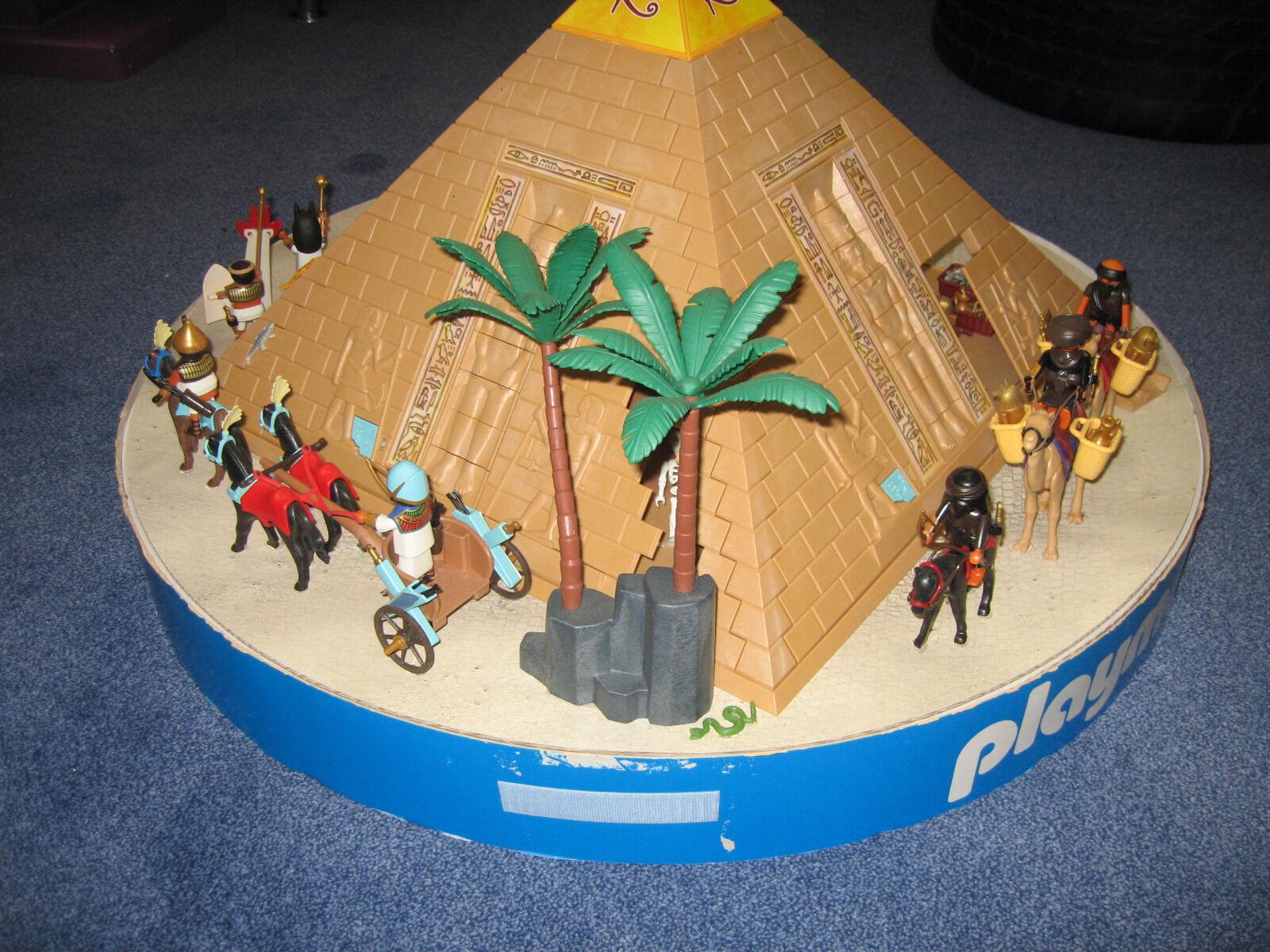 Playmobil Streitwagen Display Ägypten Pyramide Grabräuber Streitwagen Playmobil 80 cm 48358c