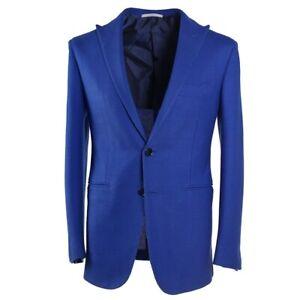 NWT-3895-MAURO-BLASI-Handmade-Royal-Blue-Woven-Sport-Coat-Slim-38-R-Eu-48