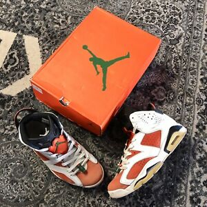 Nike-Air-Jordan-6-VI-Gatorade-Like-Mike-sz-10-White-Orange-384664-145-Shoes