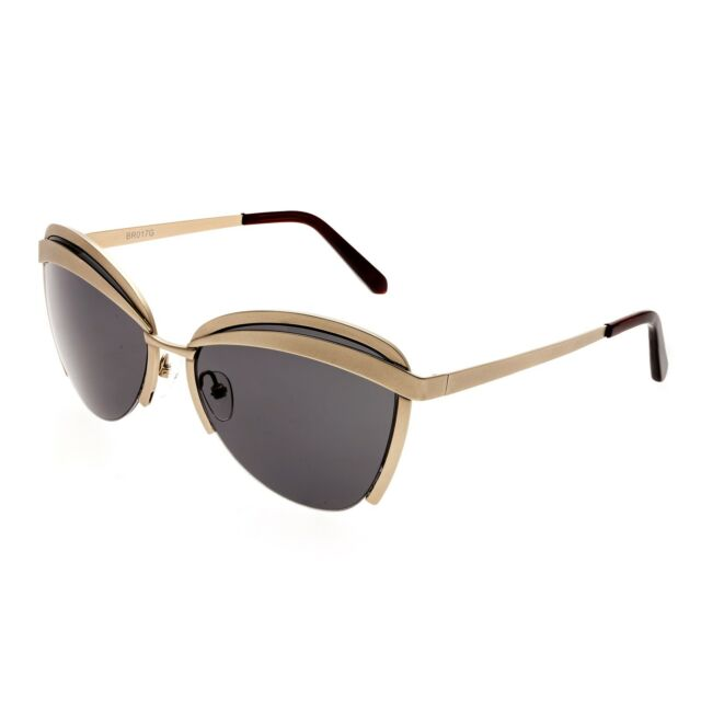 Bertha Aubree Sunglasses w/Polarized Lenses-Gold/Black