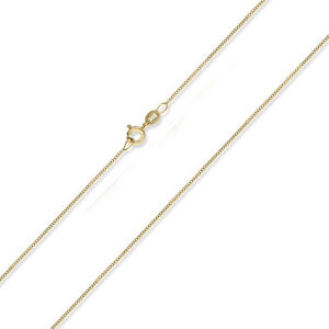 "375 9CT GOLD 16/"" 18/"" FINE DIAMOND CUT CURB LINK NECKLACE PENDANT CHAIN GIFT BOX"