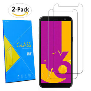 For-Samsung-Galaxy-J6-2018-5-6-034-2-Pack-Tempered-Glasses-Screen-Guard-Protector