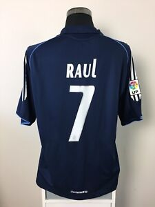 detailed look 4275b 4e90e Details about RAUL #7 Real Madrid Away Football Shirt Jersey 2005/06 (L)