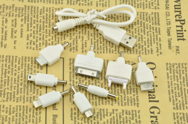 8 in 1 Universal Travel USB Mobile Phone Car Charger Adapter for SAMSUNG/LG/SONY