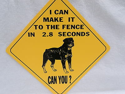 ROTTWEILER SIGN,CAUTION,WARNING,NO TRESPASSING,HOME SECURITY SIGNS,2.8 SEC FENCE
