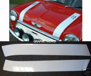 Cooper Style Bonnet Stripes For Classic Mini Vinyldecalsgraphics