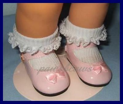Red Patent Mary Jane Shoes w// Bow 72mm ~ REBORN DOLL SUPPLIES