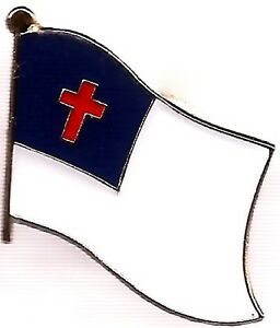 Image Is Loading LOT OF 12 Christian Flag Lapel Pins Christian