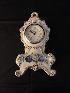 Vintage Rare Classic Treasures Porcelain Mantle Clock Quartz Made in China