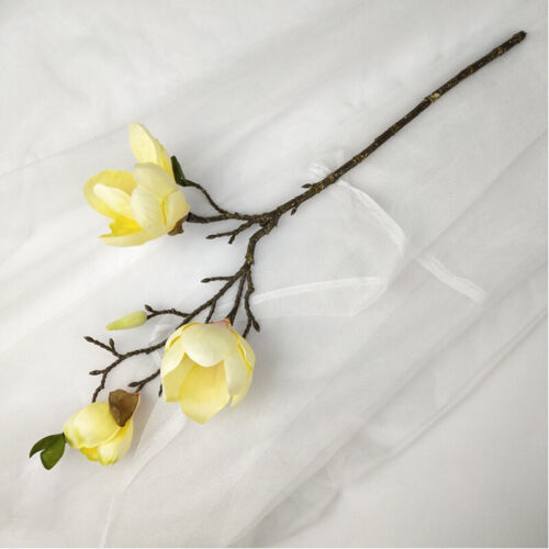 Artificial Fake Flowers Leaf Magnolia Florals Wedding Party Bouquet Home Decor
