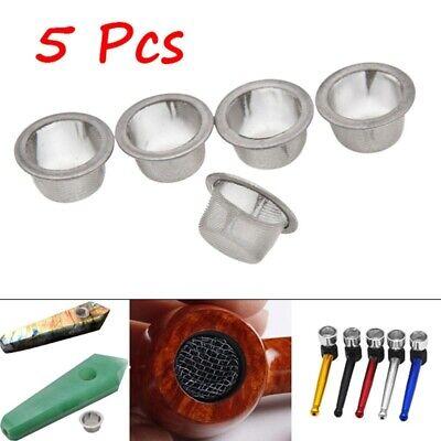 200 Beamer Glass Daisys Tobacco Smoking Pipe Filter Screens Flower Steel Brass