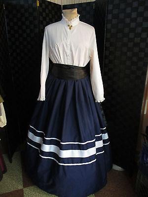 Edwardian Victorian 1 Size Ladies Ribbon Trim Civil War Dickens Skirt Sash