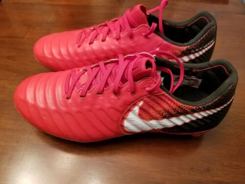 Nike Tiempo Legend VII FG Mens Soccer Cleats 897753-617 FIRE&ICE Red Black $230