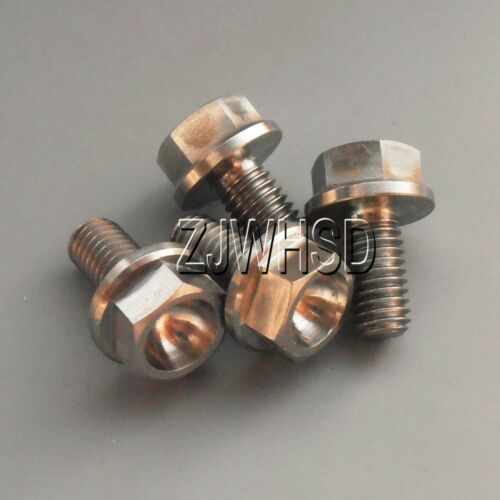 4pcs M5 x 10 Titanium Ti Screw Bolt Hexagon Hex Head Flange Aerospace Grade