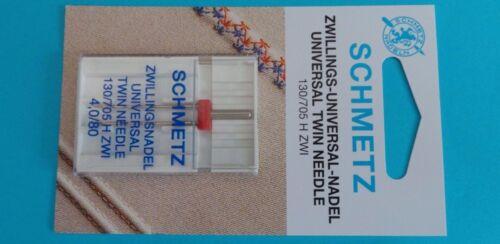 Schmetz jumelle aiguille système 130//705 4,0//80