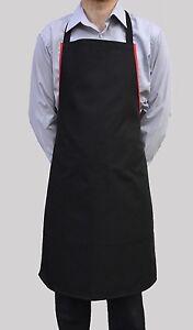 Brand New Hommes Femmes Tablier Noir Travail Chef Cuisinier Restaurant Café Shop-afficher Le Titre D'origine Ijpyvkbz-07232101-869966315