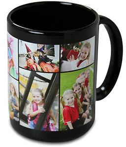 NEW-Black-Custom-Personalized-15-oz-Ceramic-Coffee-Mug-with-your-Photo-Logo