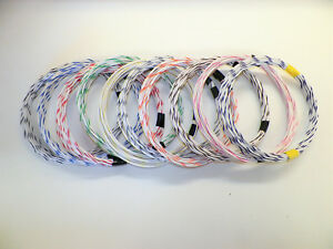WHITE-hi-temp-automotive-18-gauge-GXL-wire-10-STRIPED-color-wiring-options
