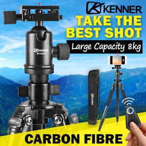 Kenner Camera Tripod Carbon Fibre Stand DSLR Mount Phone Holder Remote Shutter