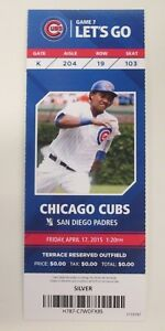 Kris-Bryant-MLB-Debut-Full-Season-Ticket-Mint-Stub-Chicago-Cubs-ROY-MVP-WS-Champ