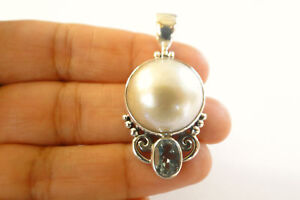 White-Mabe-Pearl-Blue-Topaz-925-Sterling-Silver-Pendant