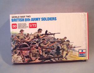 ESCI-ERTL-207-1-72-Scale-World-War-British-8th-Army-Soldiers-50-Miniatures-WWII