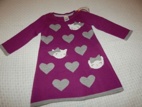 NWT Gymboree Girls 12-18 Months Bundled and Bright KITTY CAT Sweater Dress