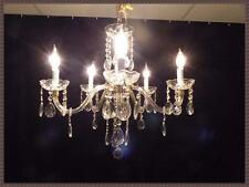 Beautiful Vintage Italian crystal chandelier NOS Vintage Italian crystal prisms